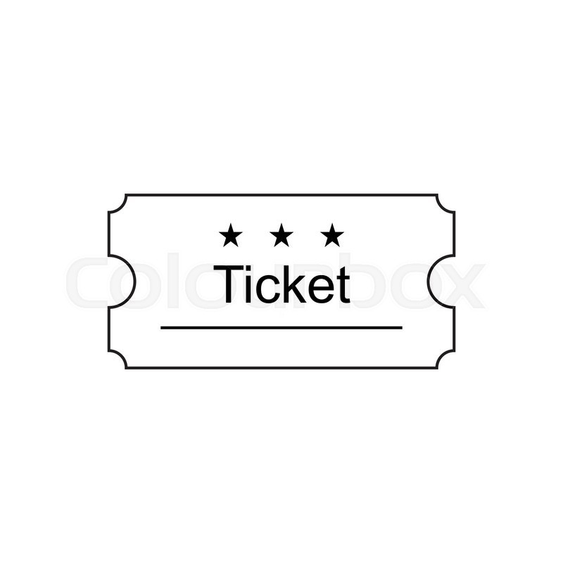 ticket icon in the outline style ticket vector illustration ticket stub isolated on a background retro cinema tickets tickets concept icon