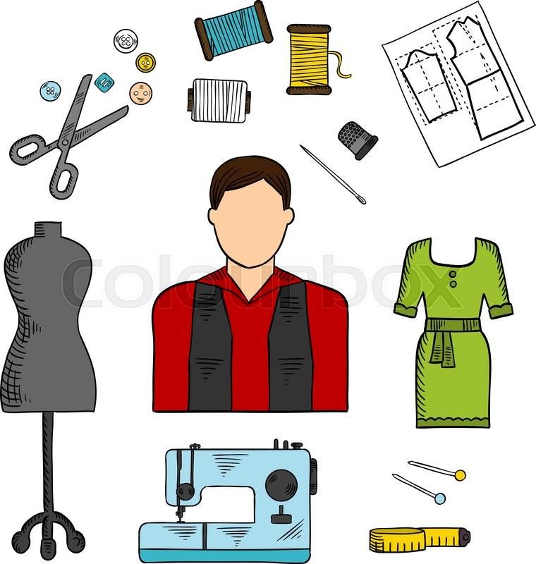fashion designer with sewing tools symbol for professions scissor vector png scissor vector art