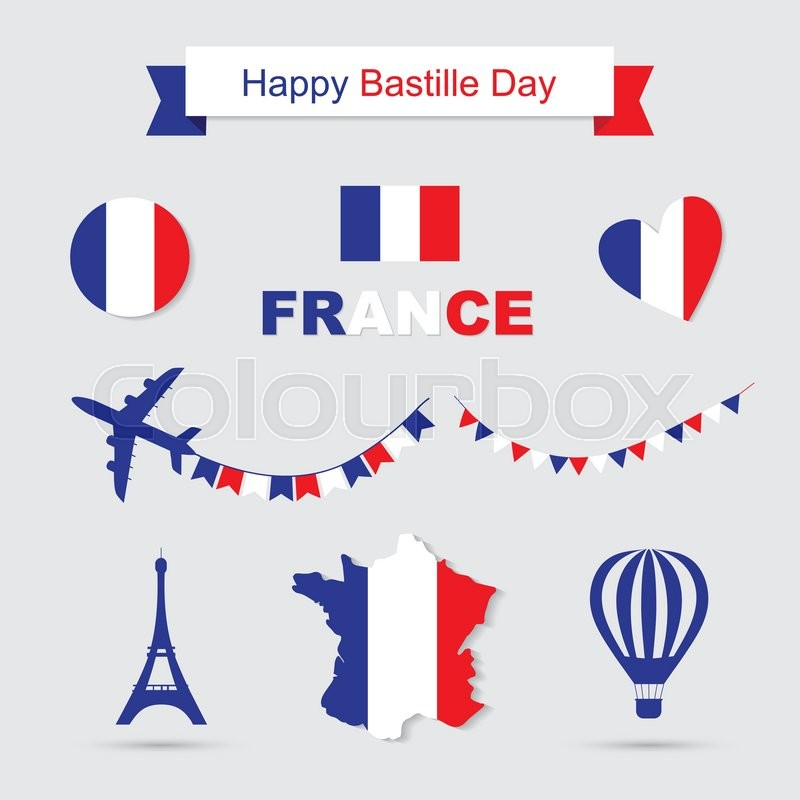 Bastille Day Independence Day Of France Symbols French Flag And