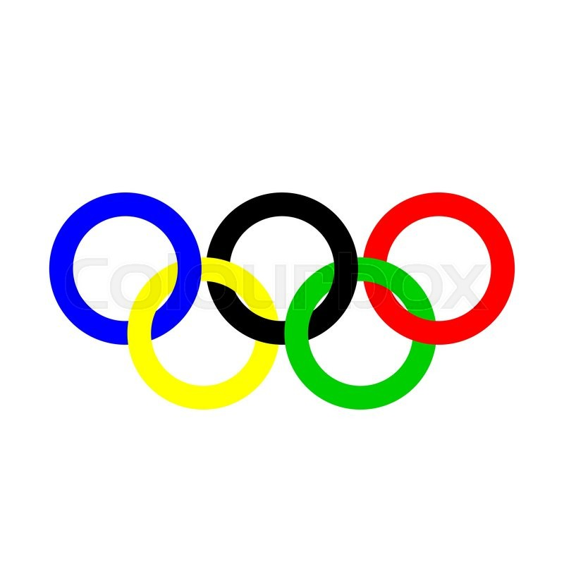 olympic rings olympics circles sport stock vector