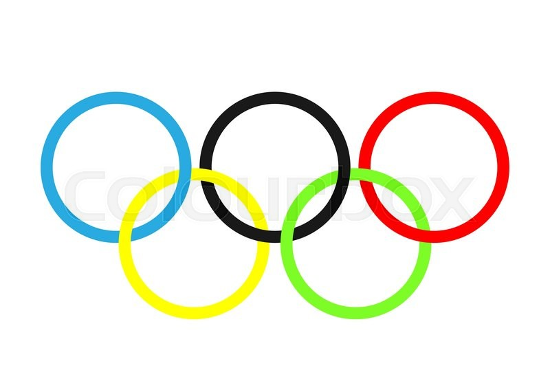 olympic rings olympics circles sport icon vector illustration rh colourbox com olympic rings vector logo olympic ring vector graphic