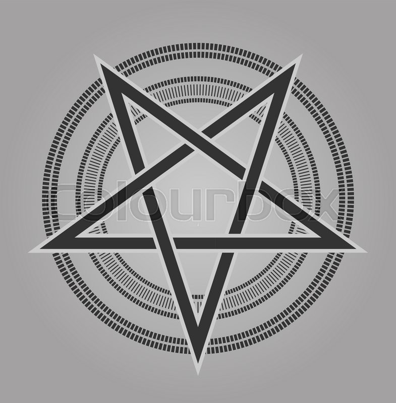 Vector Design Pentagram Signs Five Pointed Star In Shades Of Gray