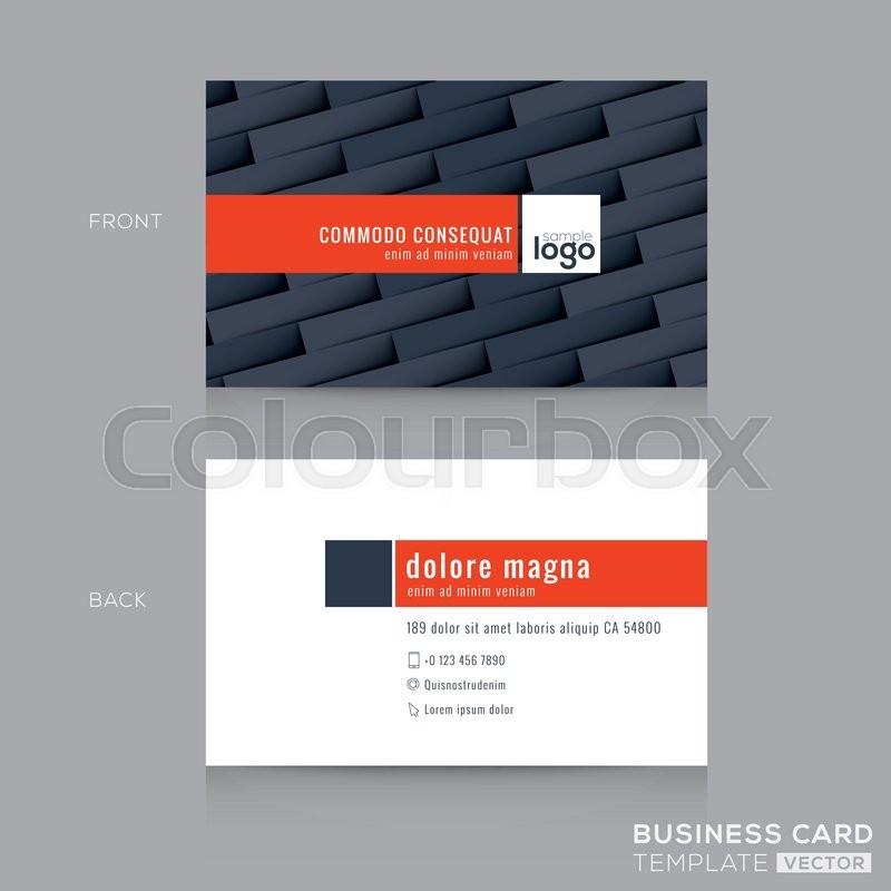 Modern dark grey business card name card design template | Stock ...