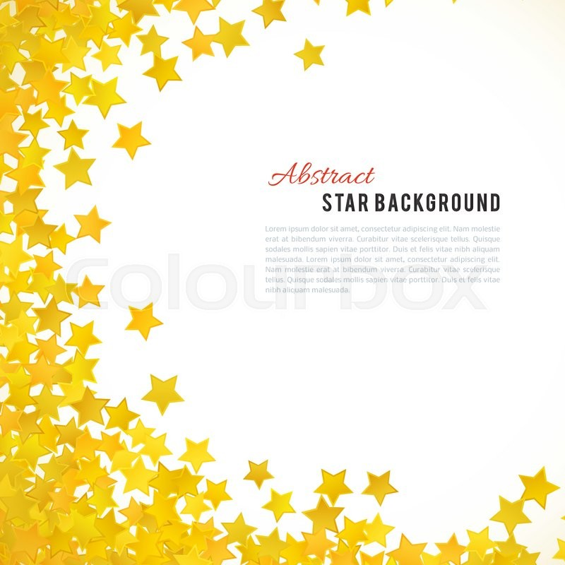Abstract Yellow Star Background Vector Illustration For