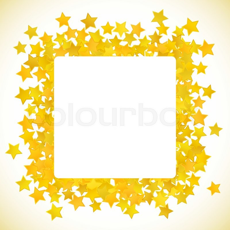 abstract yellow star background vector illustration for gold design rh colourbox com Gold Scroll Clip Art Transparent Gold Border Clip Art