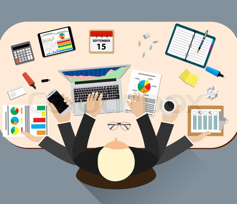 Office Job Stress Work Illustration Stock Image Colourbox