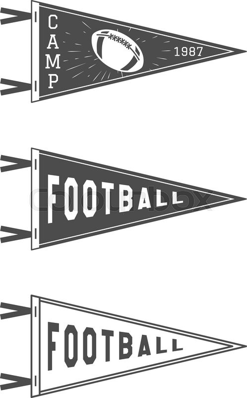 College football pennant flags set vector football pendant icons college football pennant flags set vector football pendant icons university usa sport flag isolated training camp emblem soccer label element pronofoot35fo Images