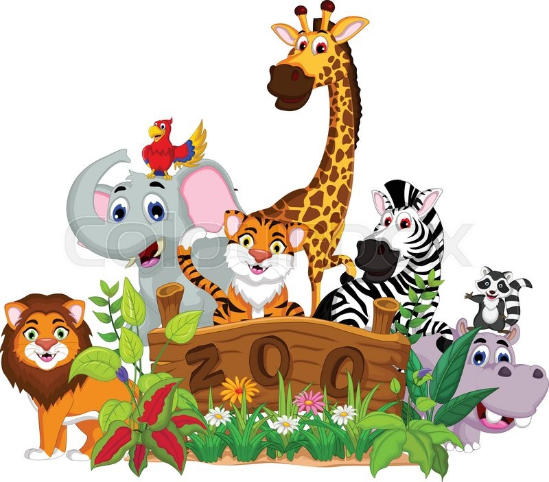 vector illustration of zoo and the animal cartoon stock giraffe vector image giraffe vector image