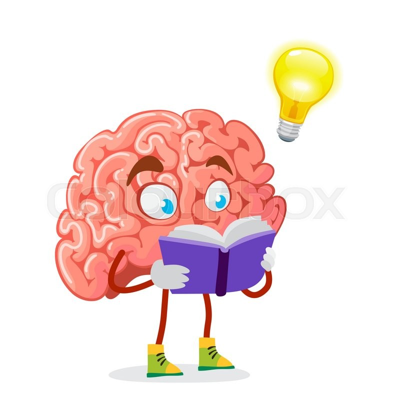 cartoon character mascot of the brain on a white background stock rh colourbox com cartoon brain images free Brain Drawing