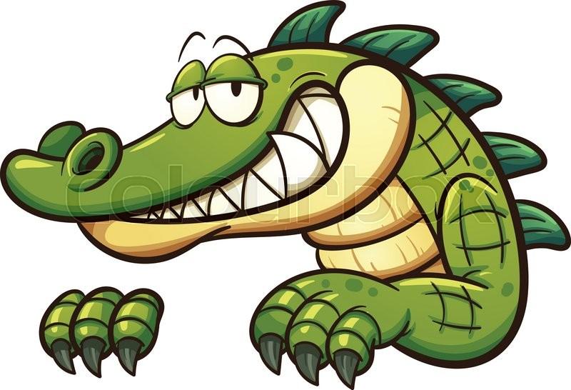cartoon crocodile vector clip art illustration with simple rh colourbox com cute crocodile clipart clipart crocodile