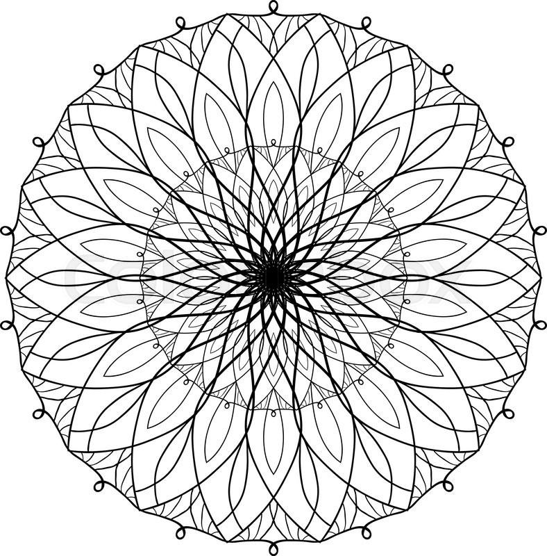 Vector antistress coloring book with geometric mandala. Coloring ...