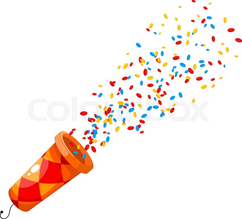 Image result for confetti cartoon
