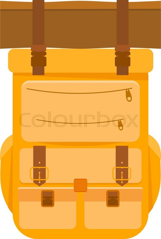 Yellow tourist backpack on a white ...  4a7a7bac05879