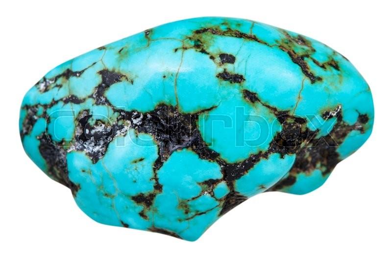Macro Shooting Of Natural Mineral Stone Polished Pebble
