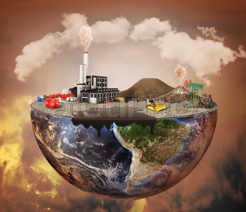 Pollution Concept Plant Machinery Petroleum Emissions