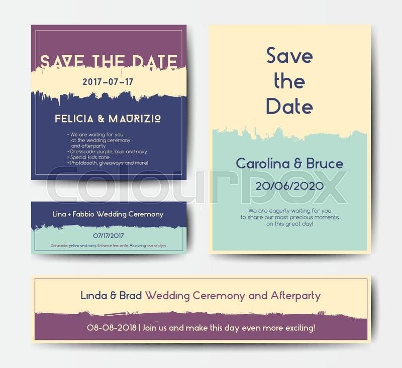 modern grunge brush design templates wedding invitation banner