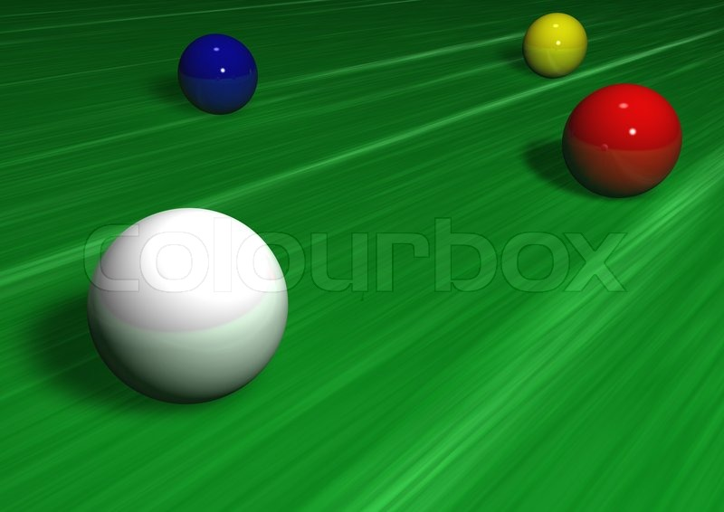 Pool game balls against a green felt table stock photo - Pool table green felt ...