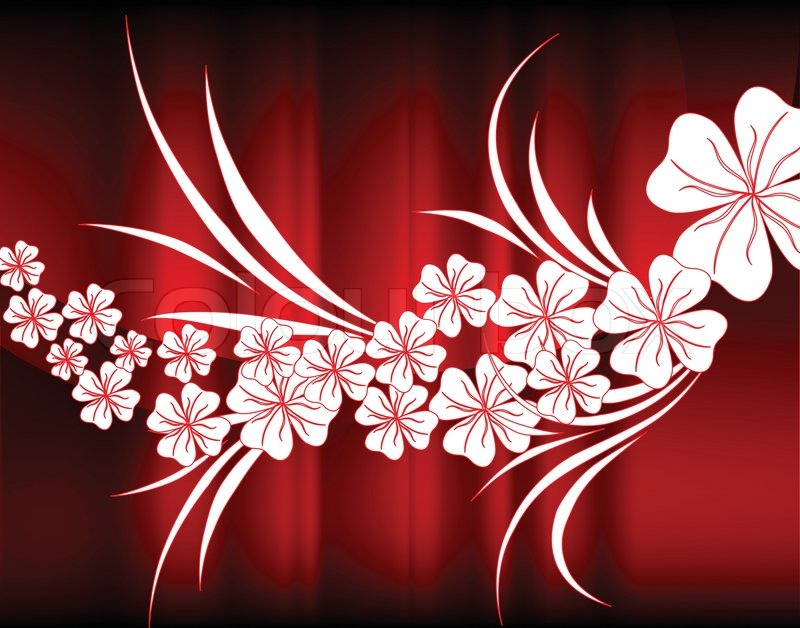 White flowers of beautiful red abstraction stock vector colourbox mightylinksfo