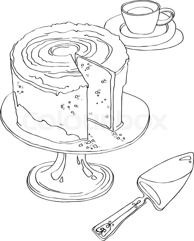Free Clip Art Coloring Page Breakfast Kitchen