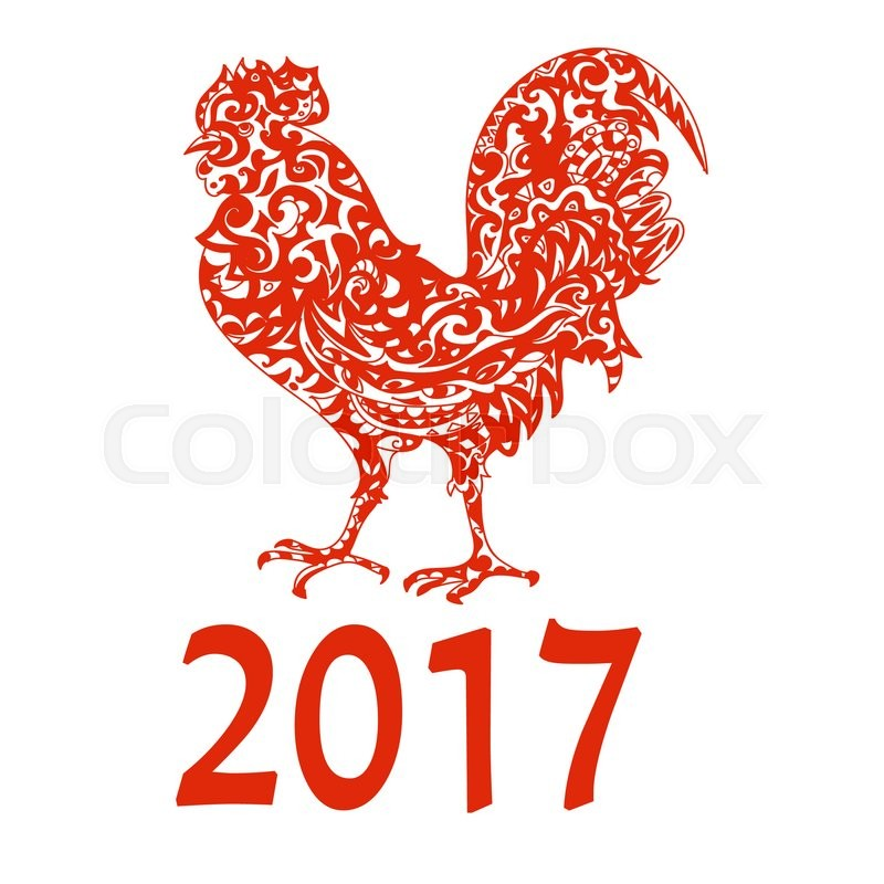 chinese new year 2017 astrological symbol rooster stock photo colourbox - Chinese New Year Symbols