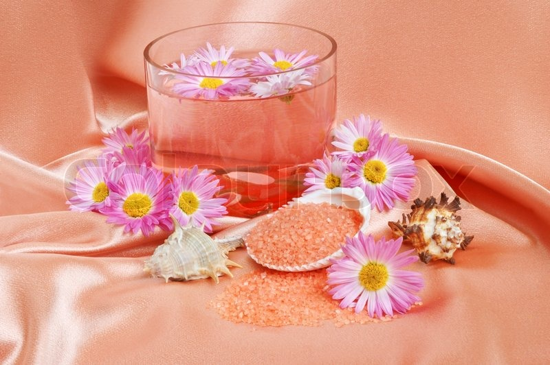 A bright pink spa and body care | Stock image | Colourbox
