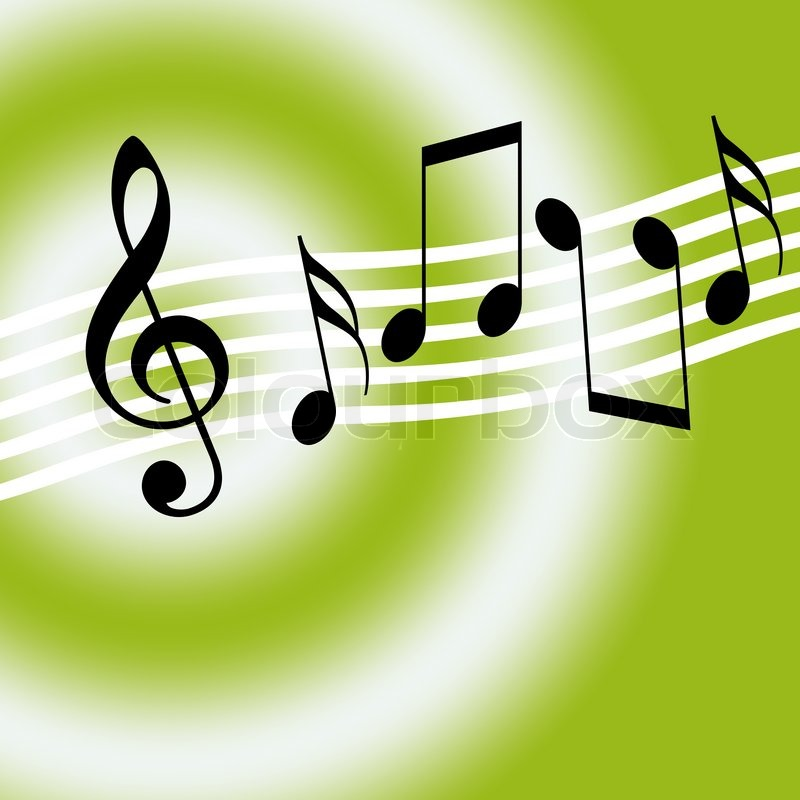 music background with musical symbols stock photo