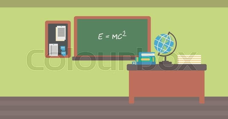 Classroom Decor Inspiration ~ Background of classroom vector flat design illustration
