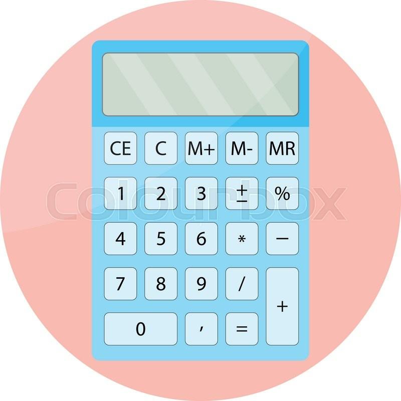 Calculator icon isolated. Mathematical display calculator, financial ...