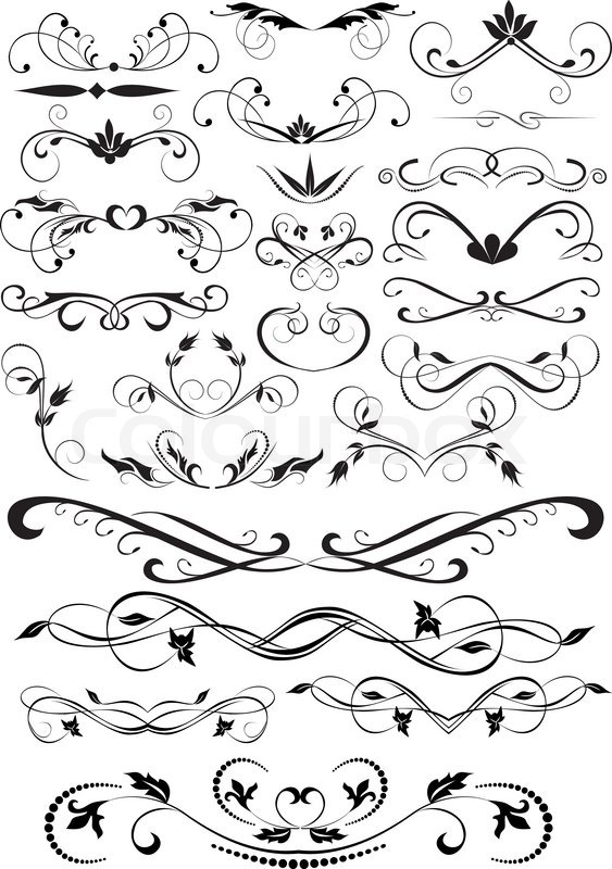 design ornamental element in vintage style vectorized