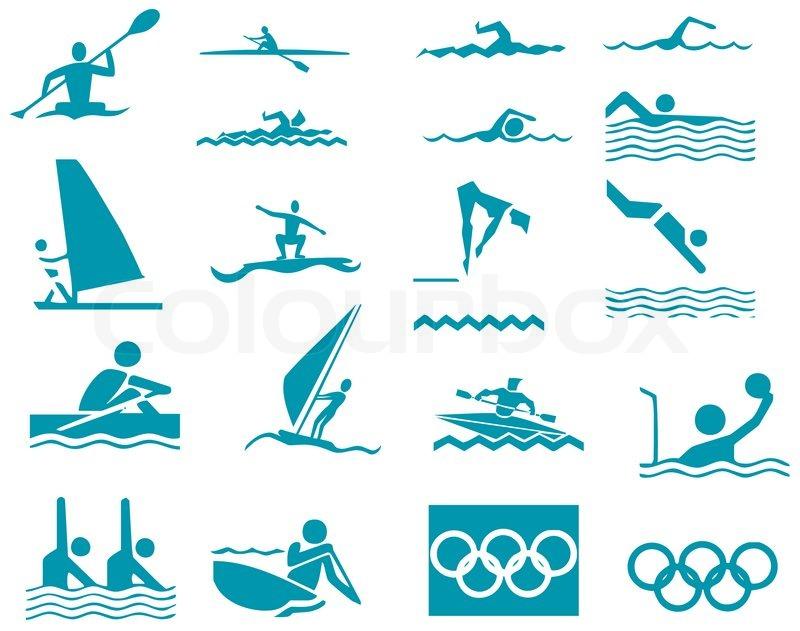 swimming sport vector illustration icons sport stock vector rh colourbox com swimwear victoria's secret swimwear victoria's secret