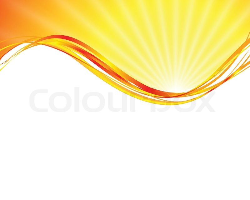 vector sun on yellow background with orange rays stock vector rh colourbox com sun ray vector free sun ray vector free