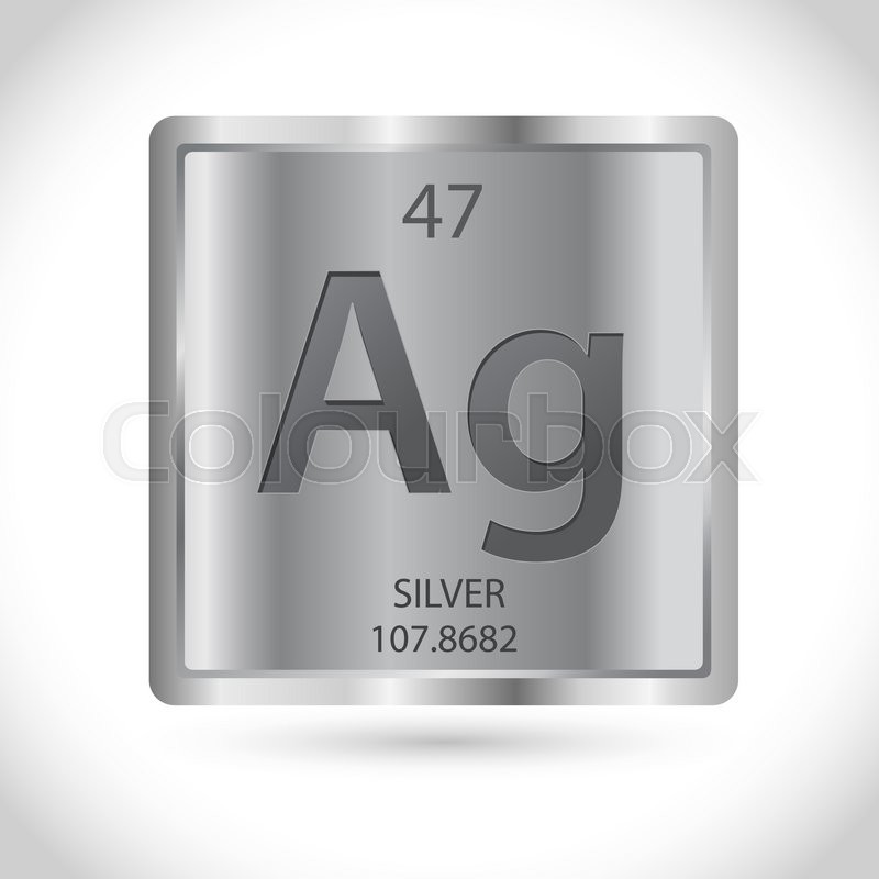 Vector Stock Of Silver Square With Silver Chemical Element Symbol