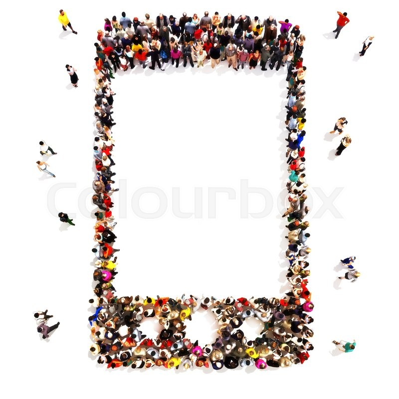 People Who Use Wireless Communication Large Group Of People In The