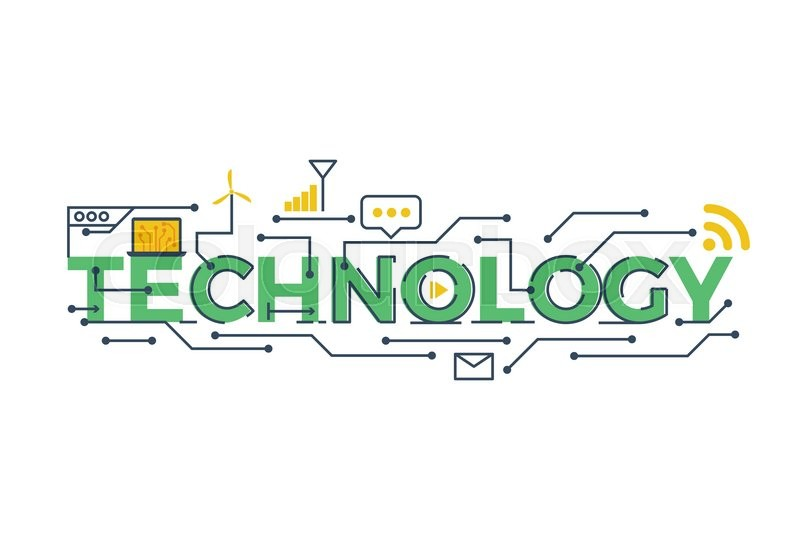 Illustration of TECHNOLOGY word in STEM - science ...