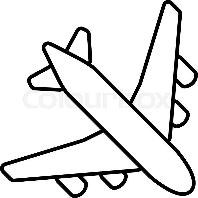 Old Plane Coloring Pages