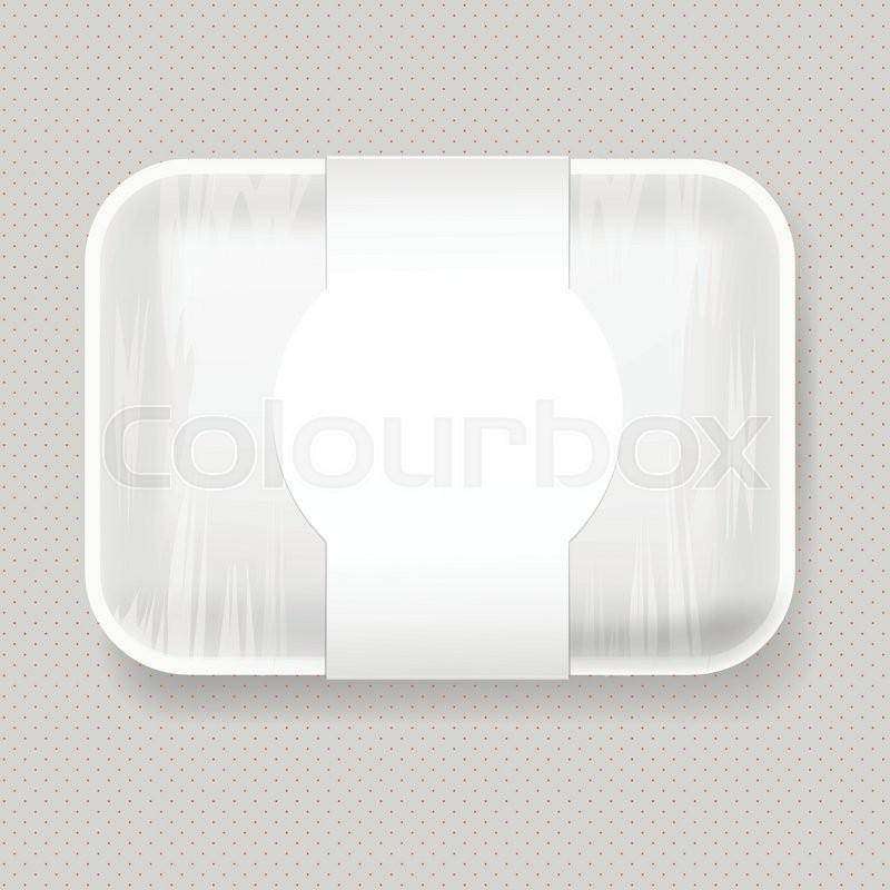 White Empty Blank Styrofoam Plastic Stock Vector