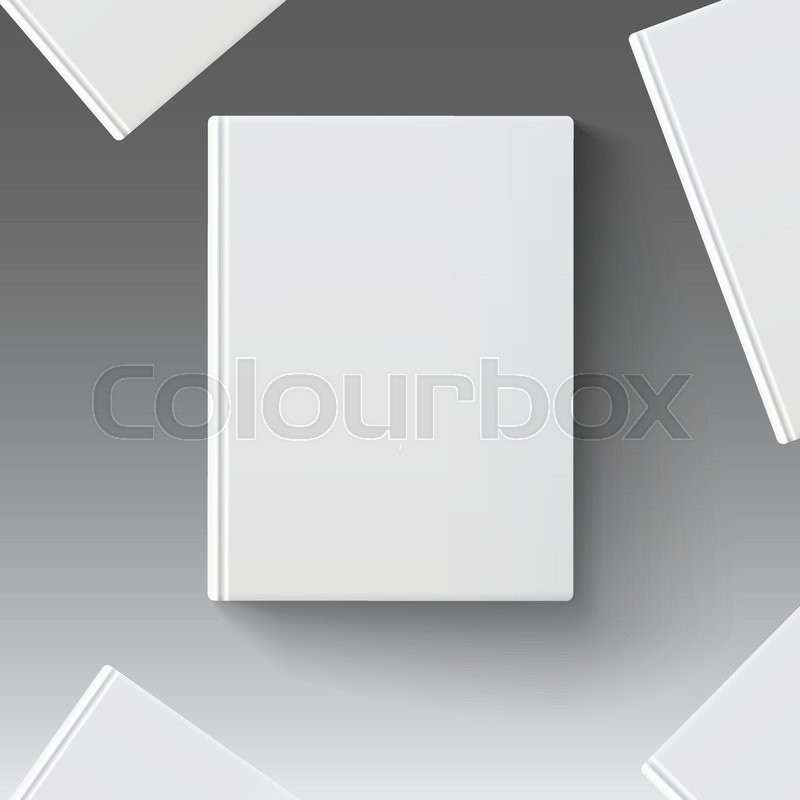 Blank book cover, vector illustration gradient mesh. Isolated ...