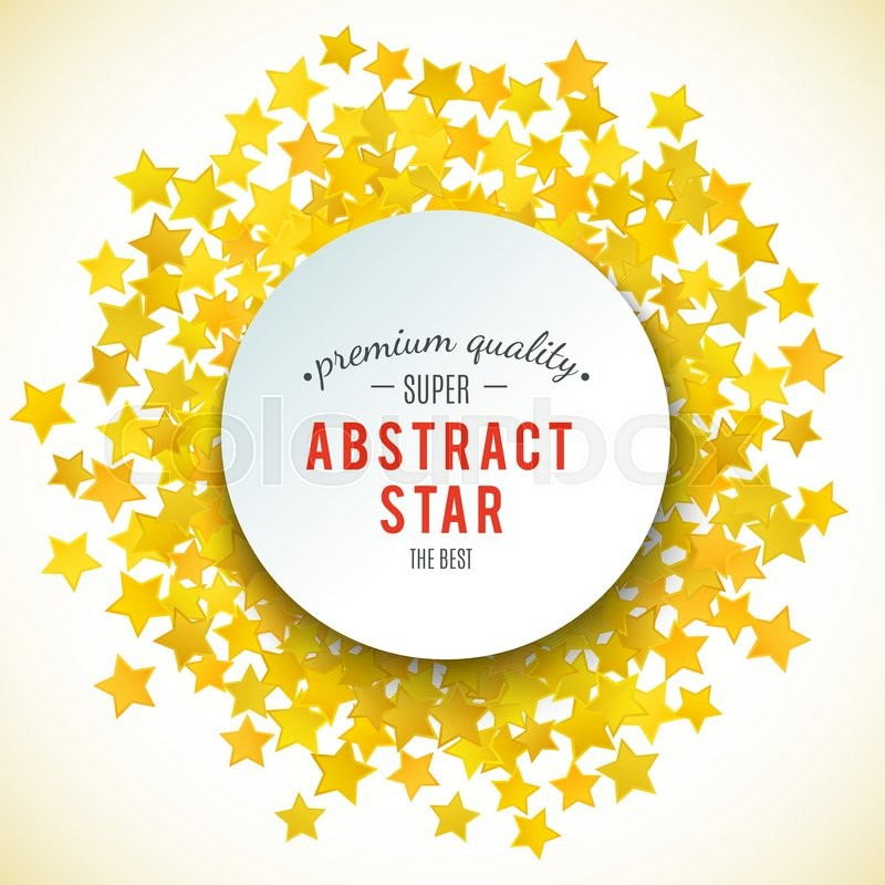 Abstract yellow star background. Vector illustration for gold design ...