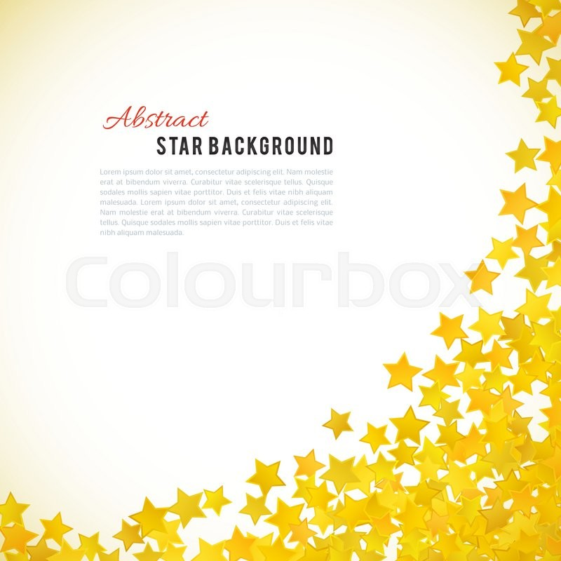 Abstract Yellow Star Background Vector Illustration For Gold Design Golden Color Shiny Decoration Symbol Celebration Holiday Award Shape Bright
