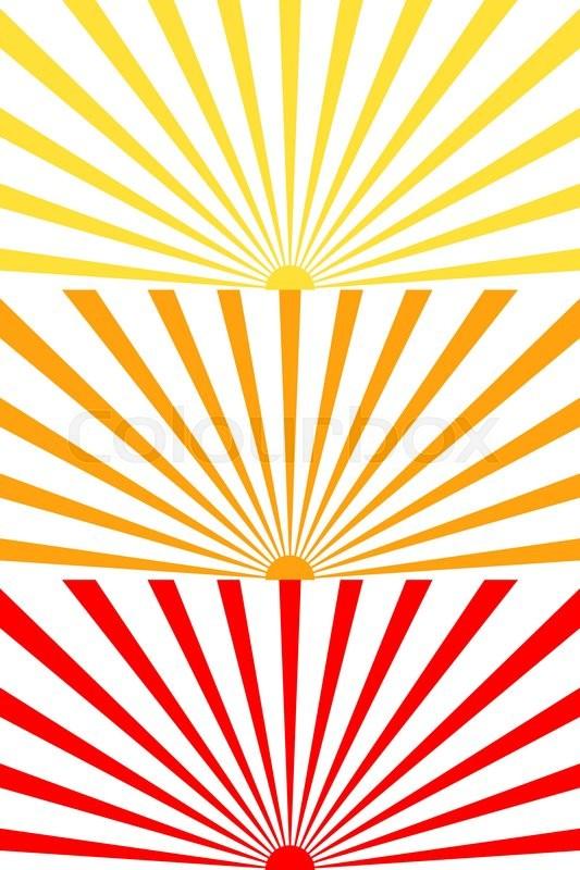 vector illustration set sun sunburst sunrise sunset pattern stock rh colourbox com red sunburst vector sunburst vector in ai