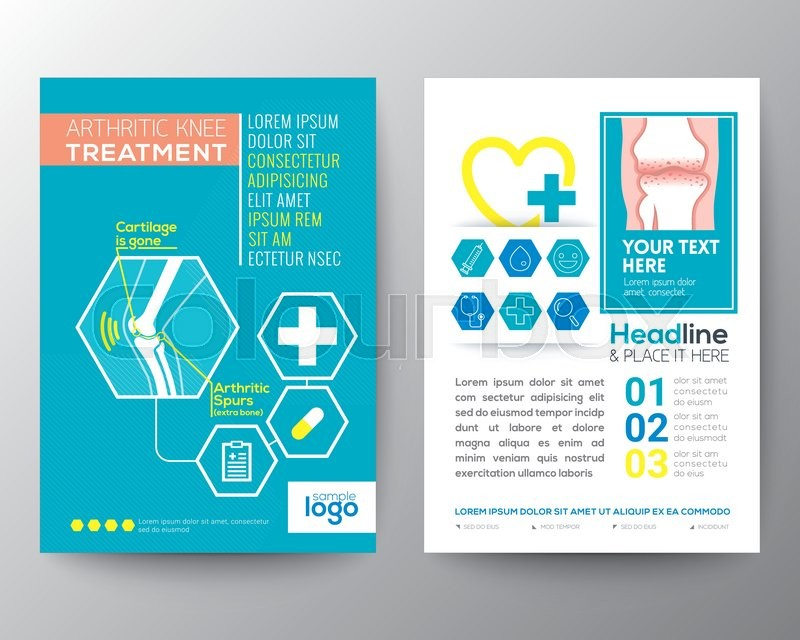 Arthritic Knee Treatment Health Care And Medical Poster Brochure Flyer Design Layout Vector Template In A4 Size