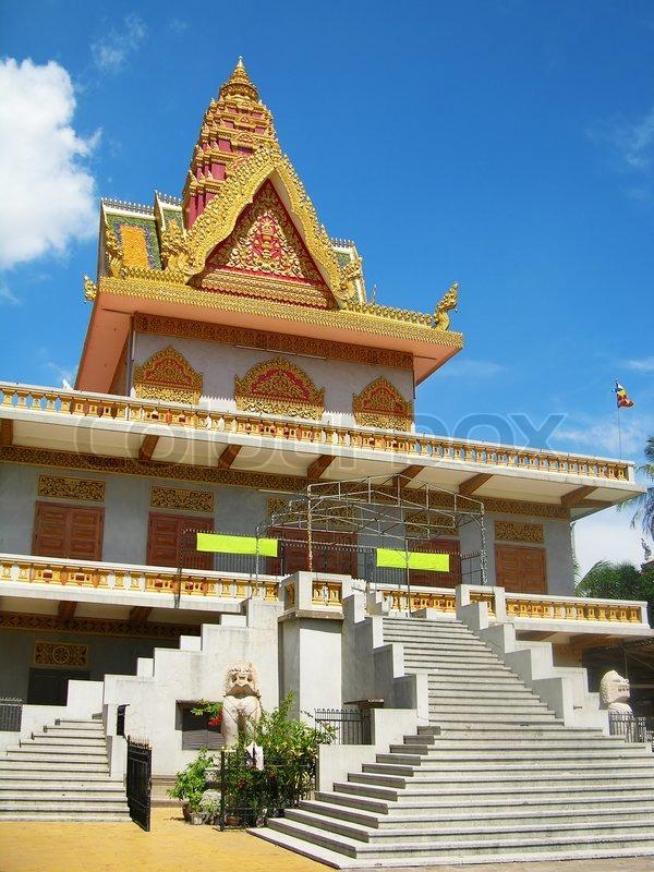 Classic khmer architecture phnom penh cambodia stock for Architecture khmer