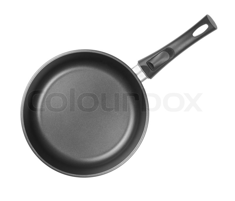 Frying Pan Top View Isolated Or Cutout Stock Photo