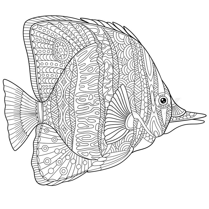 Coral reef fish coloring pages