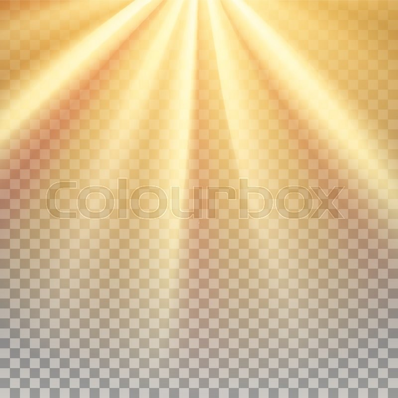 Yellow Sun Rays Warm Orange Flare Glaring Effect With Transparency Abstract Glowing Light Background Ready To Apply Graphic Element For Documents