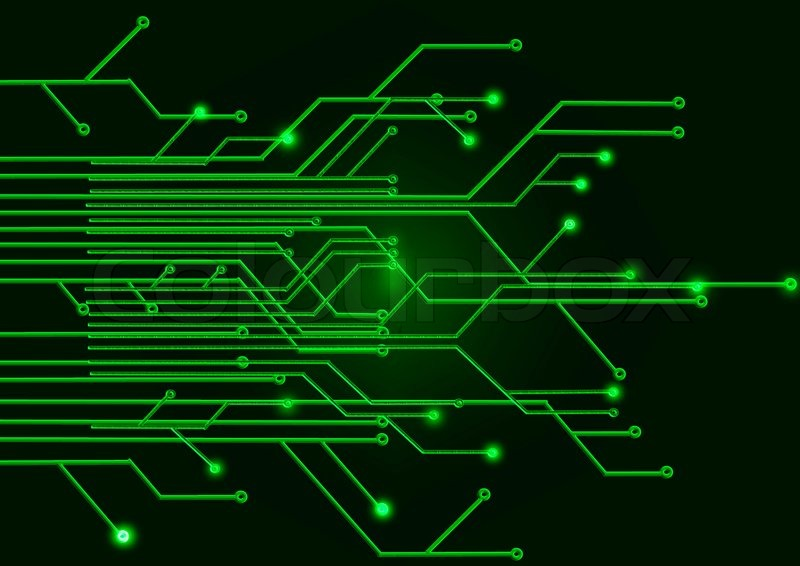 Green circuit Board on a black background | Stock Photo ...
