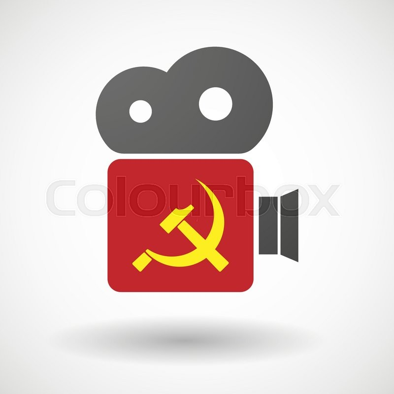 Illustration Of An Isolated Cinema Camera Icon With The Communist