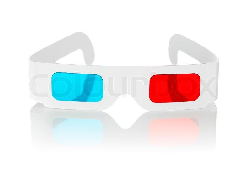 einweg billigen karton 3d brille mit rot und cyan linsen isoliert auf wei stockfoto colourbox. Black Bedroom Furniture Sets. Home Design Ideas
