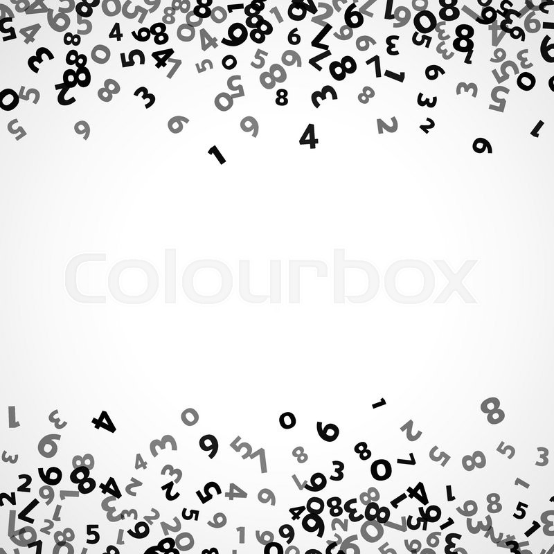 Abstract math number background. Vector illustration for ...
