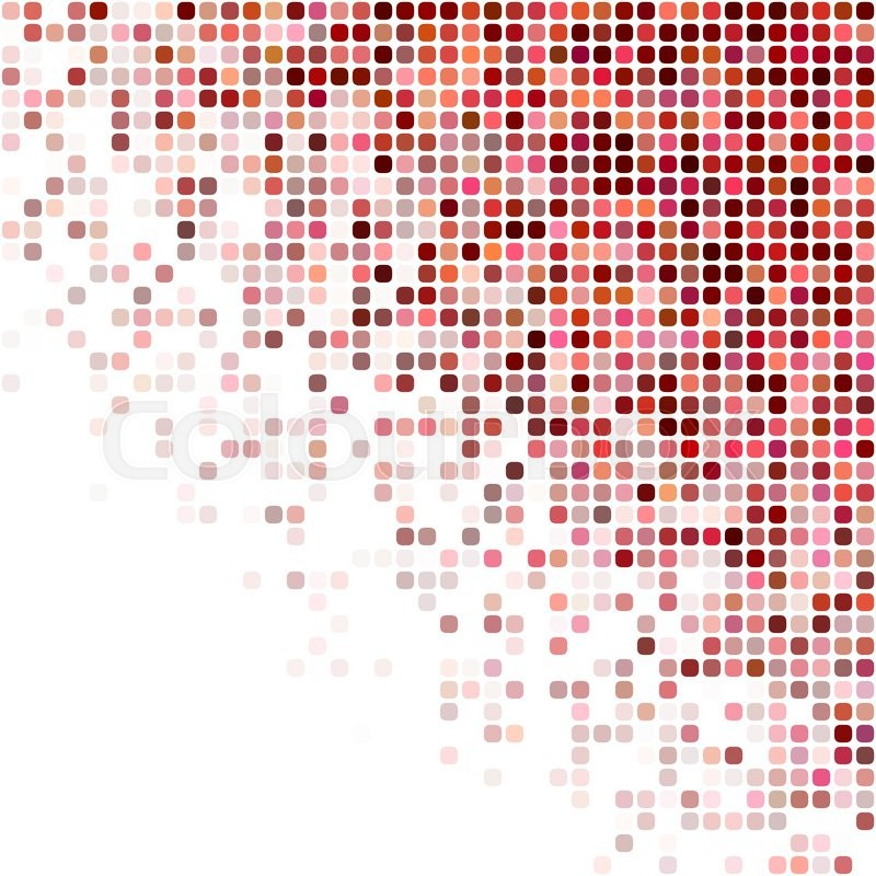 Red And White Square Mosaic Vector Stock Vector Colourbox